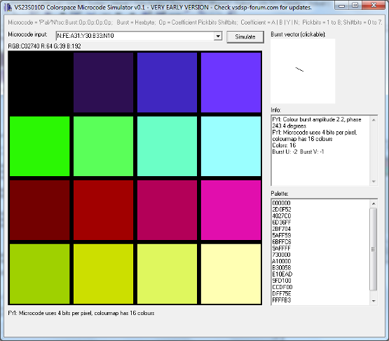 Nice color palettes for VS23S010 TV-Out - VSDSP Forum